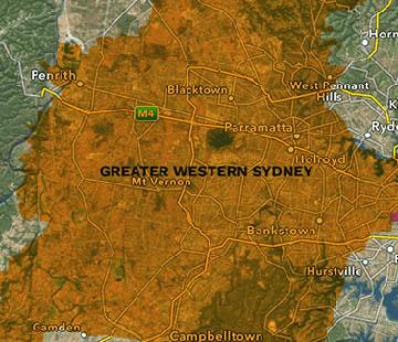 Greater Western Sydney Map